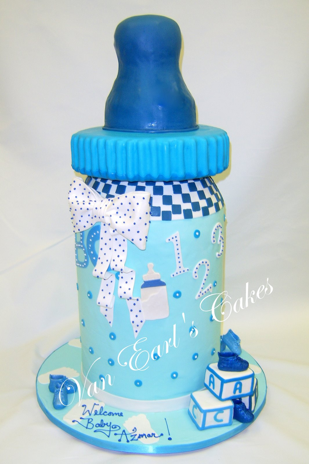 Baby Bottle Cake Images : Van Earl s Cakes: Baby Bottle Baby Shower Cake