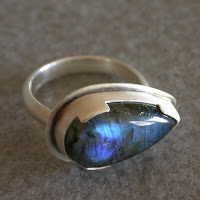 blue labradorite sterling ring