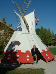 Eric and the museum's Teepee