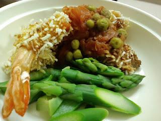 魚介の春雨フライのチリソース野菜添え