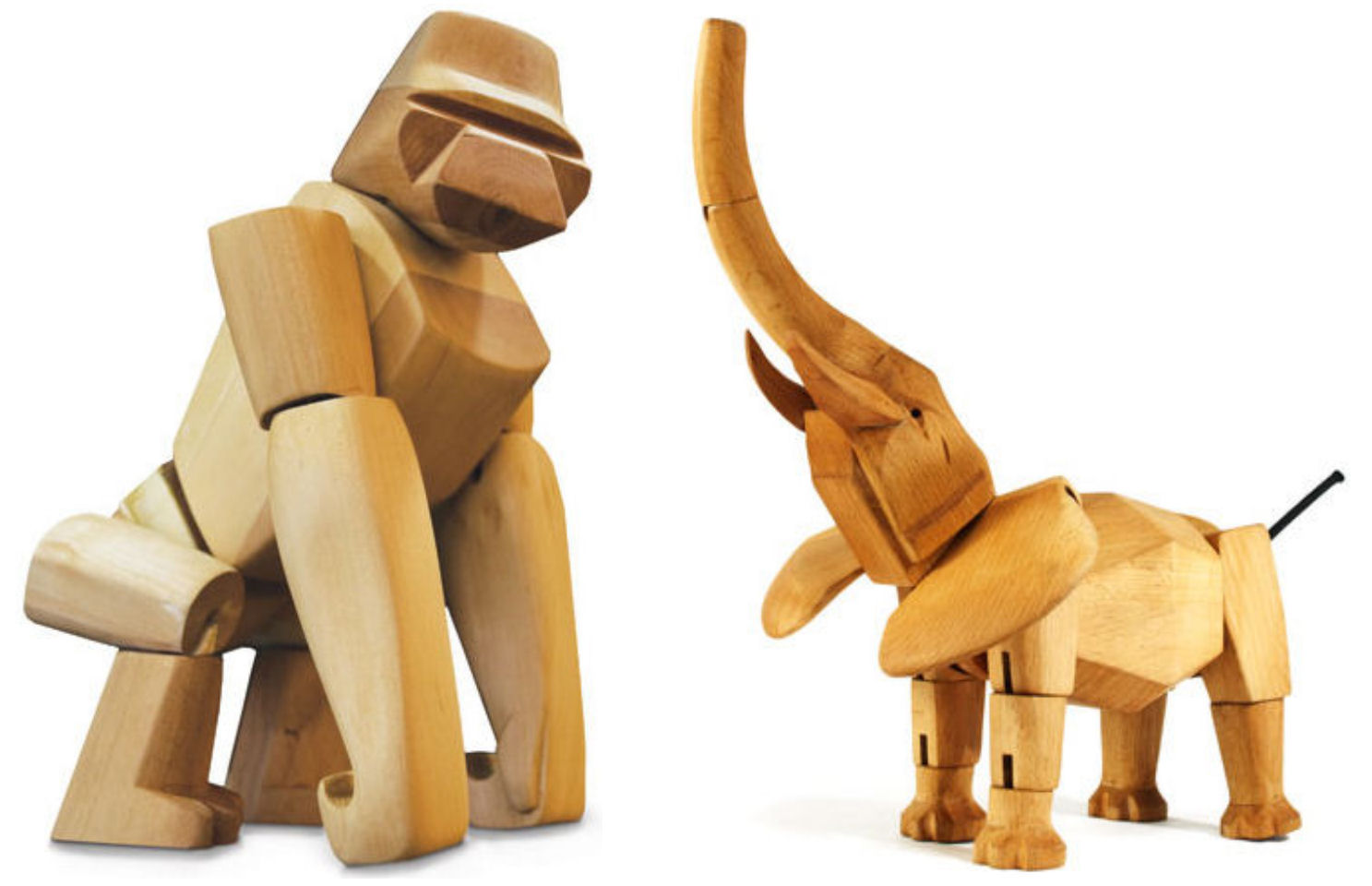 Simple Wooden Toys Articulated wooden toys: david