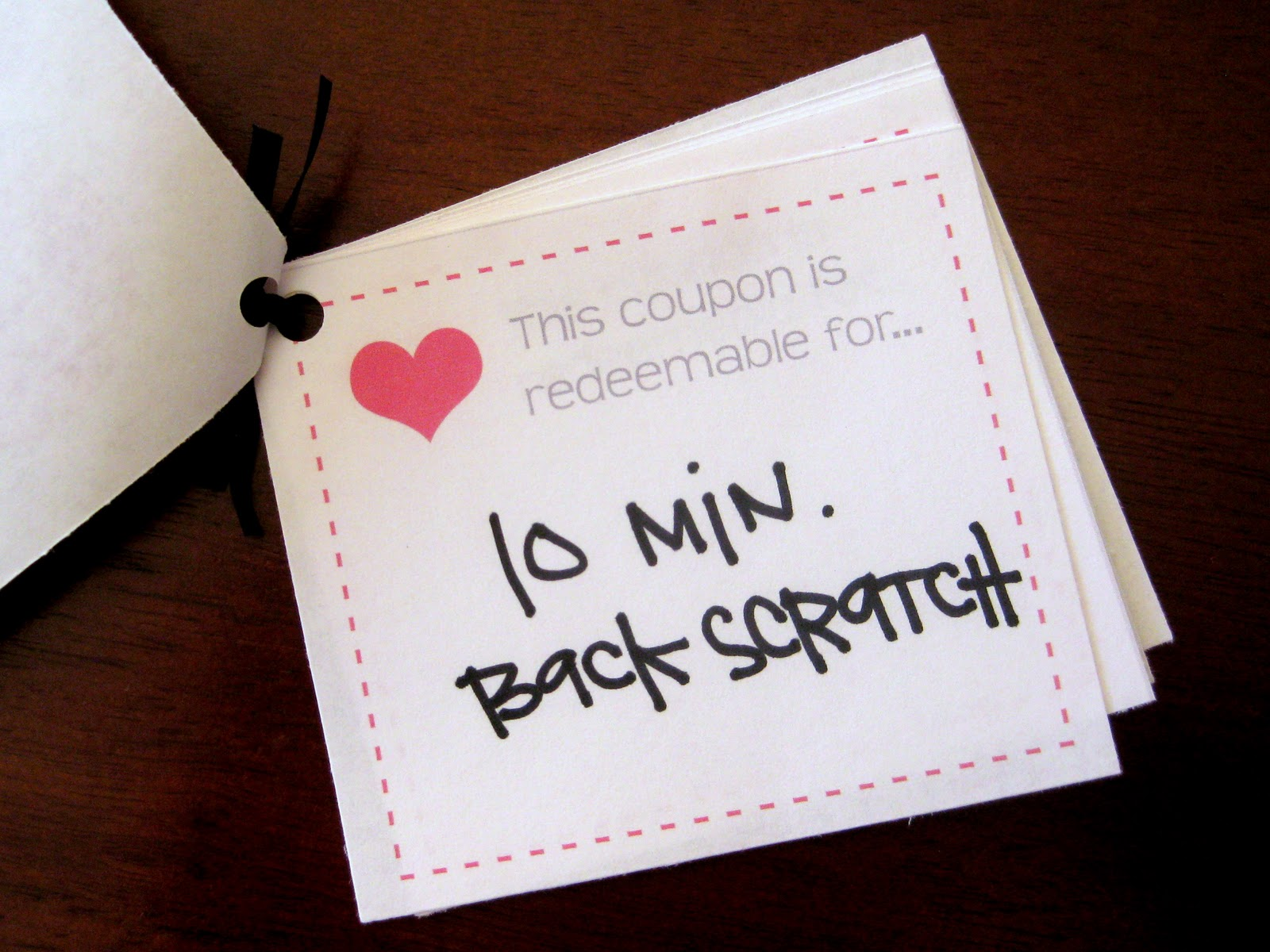 love coupons for him template - made with love coupon book