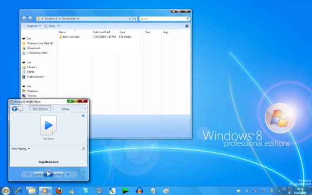 Windows 8 Professional screenshot Cara mengubah tampilan Windows 7 menjadi Windows 8