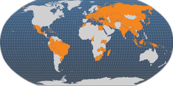Występowanie karpia w świecie