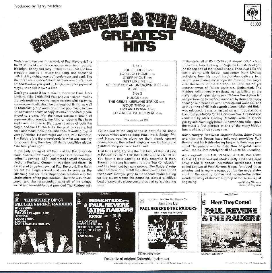 Paul revere and the raiders greatest hits