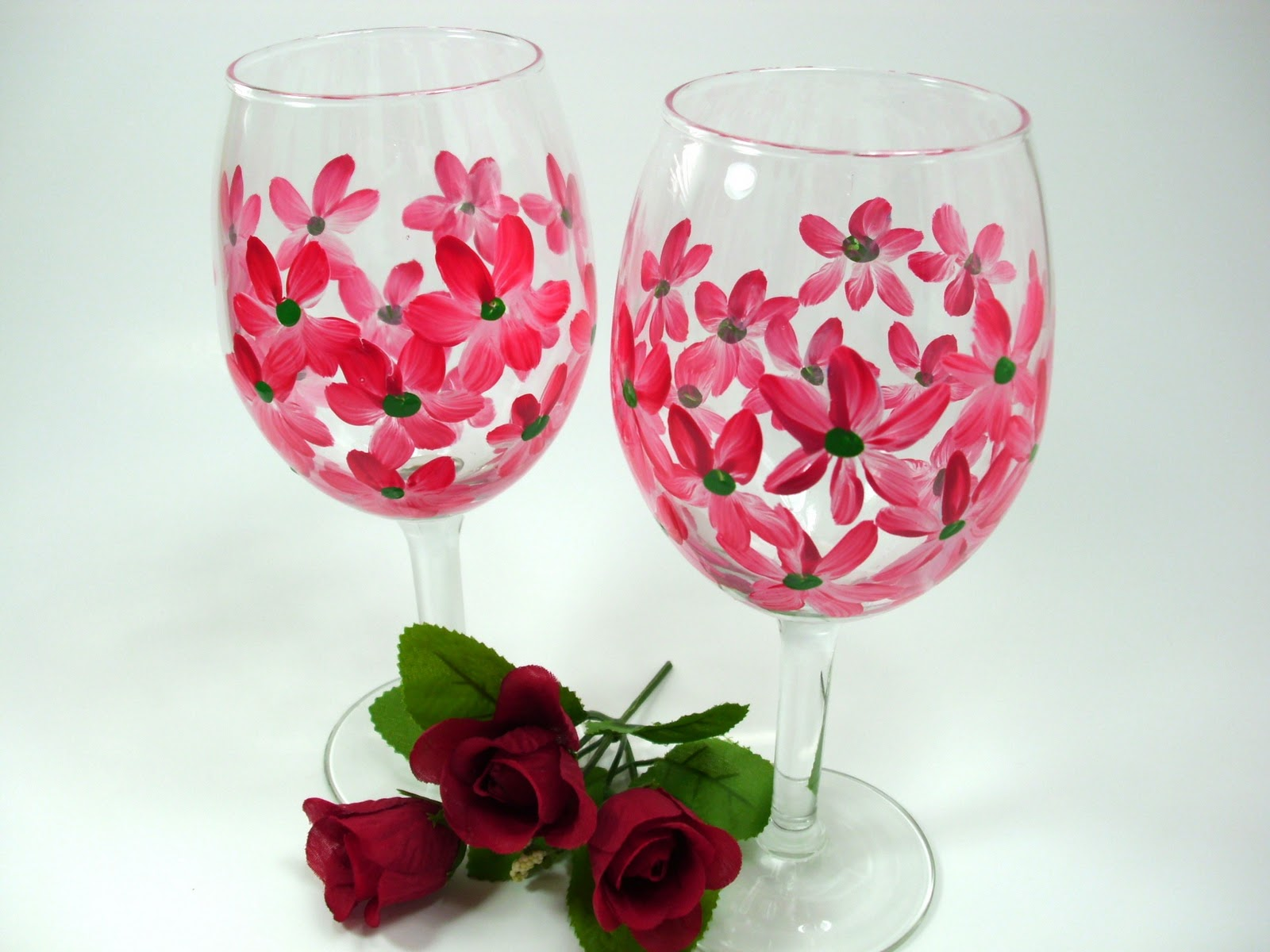 Heart And Home More Hand Painted Wine Glasses