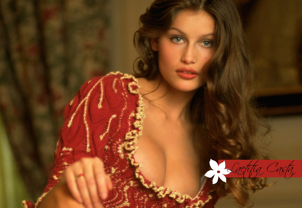 Hot Beauty Laetitia Casta Sexy Bikini and Lingerie Pics