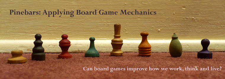 Pinebars: Applying Board Game Mechanics