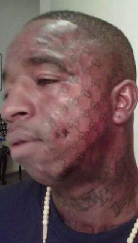 tattoos gone bad. GUCCI TATTOO GONE WRONG.