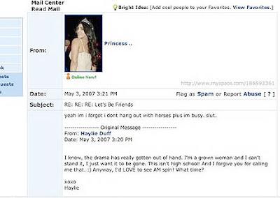 Kim Kardashian Myspace