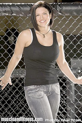 Gina Carano Muscle and Fitness Photos