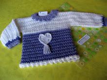 Sweter ML con corazones