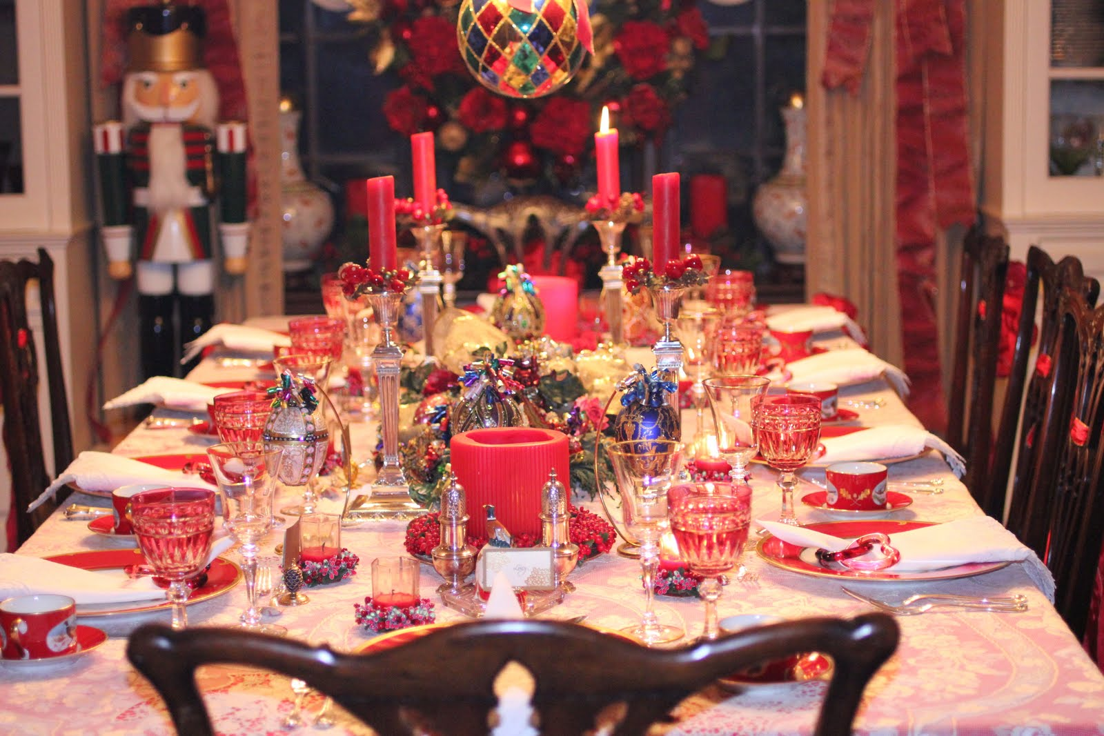 Christmas dinner party. Their home is decorated with such whimsy