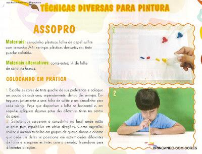 Ar0001 TÉCNICAS DE PINTURA: Outras Atividades para suas aulas de arte. para crianças