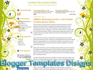 Theme Vinery XML Blogger Templates