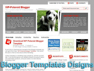 Theme WP-Polaroid Blogger Templates XML Web 2.0