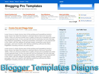 Theme Blogging Pro Blogger Templates XML Web 2.0