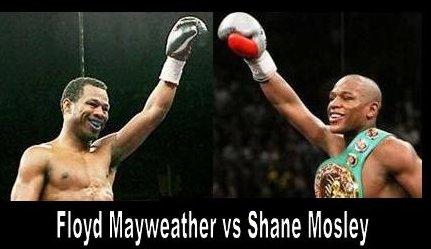 Floyd Mayweather vs Shane Mosley live