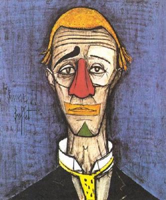 Mouvement introductif bernard buffet with clown - Tete de clown a imprimer ...