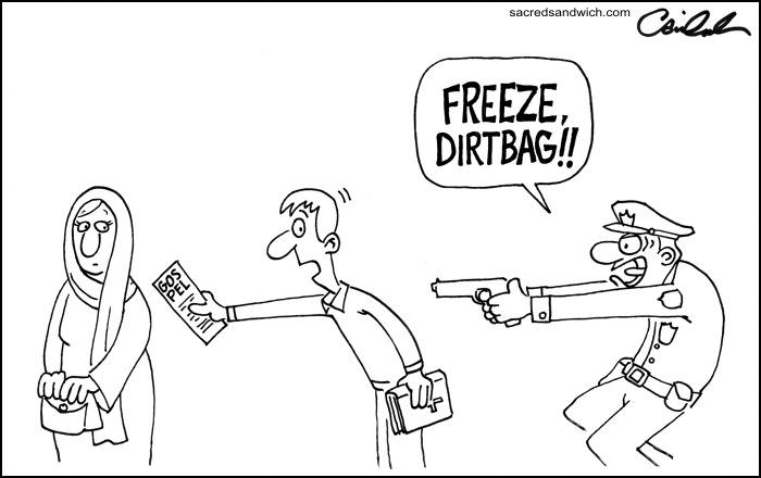 answering muslims  cartoon  dearborn police vs  the gospel