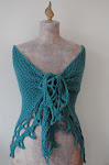 Skadi&#39;s Shawl  -----   knit and crochet