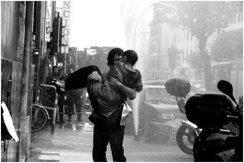 kissing in the rain wallpaper. tattoo kissing in rain