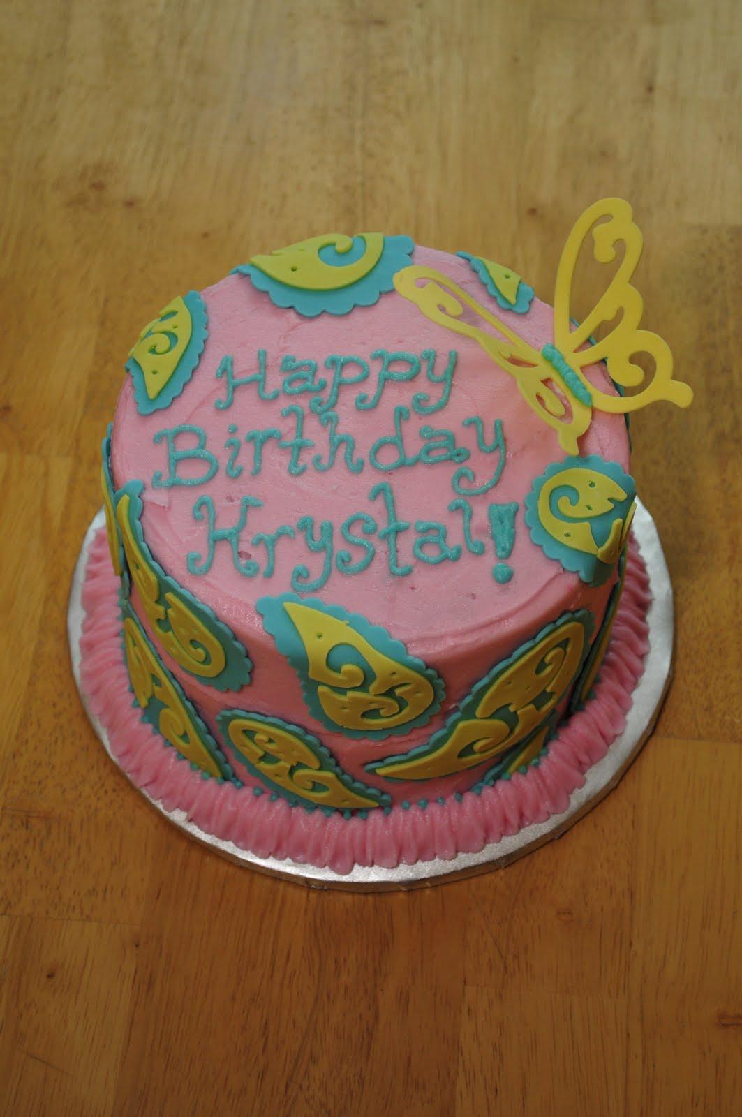 Lindsay S Custom Cakes Krystal S Birthday Cake