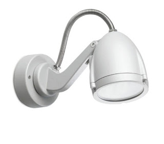 Alien Outdoor Spotlight, Satin Grey wall/spike spot IP65