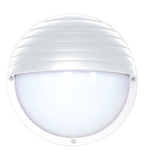 Round Bulkhead for outdoors, white round eyelid