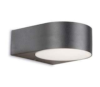 Nemesis Outdoor Curved wall Light IP44 satin gray 60W E27
