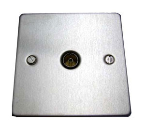 The Cheapest Coax Sockets - Stainless Flat Co-axial Socket