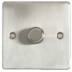 The Cheapest Dimmers - Stainless Flat Plate 1G 2W 400W Dimmer