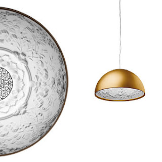 Flos Skygarden Suspension Pendant in Matt Gold finish