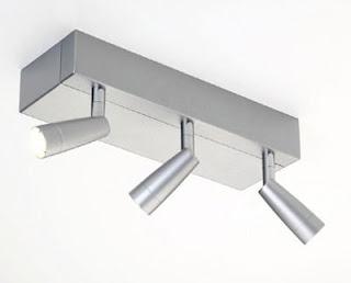 Fujiko Triple Bar Spotlight in silver finish, ceiling lamp