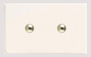 Varilight White Screwless Ultra Slim 2 x 600W 2 Gang 1-Way Remote/Touch Controlled Master Intelligent Dimmer Twin Plate Switch - IDQI602M