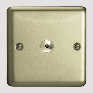 Varilight Matt Chrome 400W 1 Gang 1-Way Remote/Touch Controlled Master Intelligent Dimmer Switch - ISI401