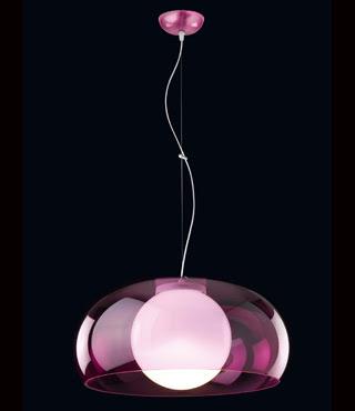 Balun Hanging Pendant, Transparent Pink Balun Pendant MSX51009