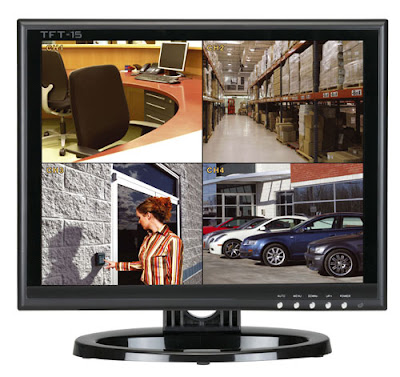 A 15 inch TFT CCTV Monitor with BNC video loop through for the DigiPRO 4 CCTV surveillance camera system