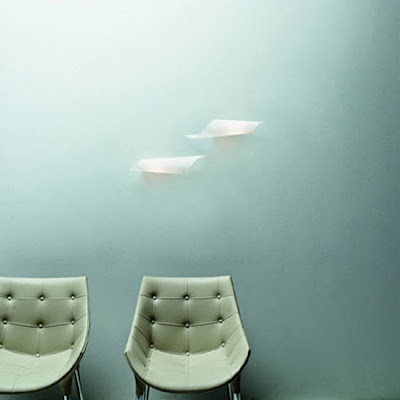 Nemo Calla Wall Lamp in White Opal Glass finish - application