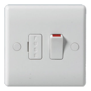 The BG Nexus 13A switched and fused spur with neon and flex outlet - Nexus White Moulded 853