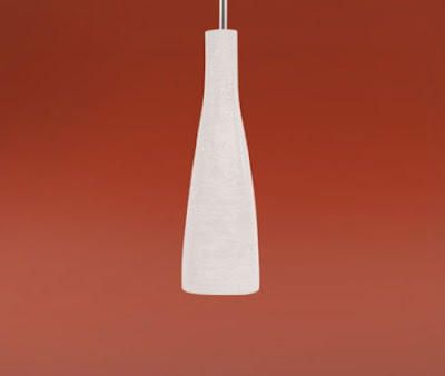 Kameo1 88234 Ceiling Light - Kameo 1 White Bottle-shaped Pendant with a nickel matt suspension