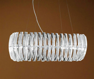 Drifter 89204 Ceiling Suspension Lamp - Drifter Pendant with Crystal Batons, 80cm lamp