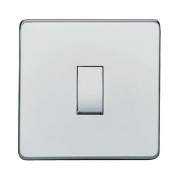 Heritage Brass Screwless range - Studio Range screwless 10 Amp Rocker single Switch