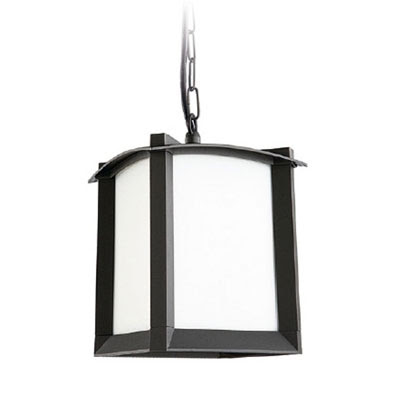 The LX190 Mark Outdoor Ceiling Light, Black Hanging Lantern IP23 rated