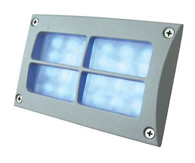 The BR14 Recessed LED Bricklight, matt aluminium window grill brick light - £12.00