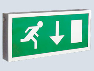 Emergency Lighting XLS8M3FN - 8W Exit Box Emergency light (Maintained) - arrow down pictogram