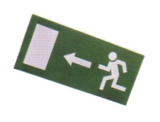 Emergency Lighting CL - Spare Legend For Exit Box Running Man Left