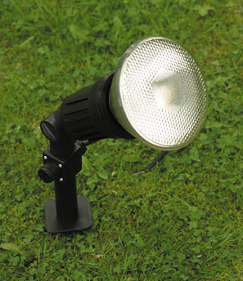 The POS151 garden light - a Ground Spike Single Spotlight, spike included