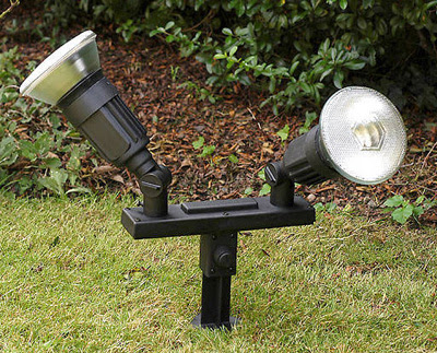 The POS159 Garden Light - a Twin Spike Spot, Spike Double Spotlight