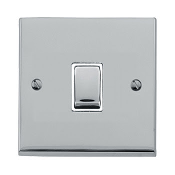 The Heritage Brass R02.800PCW - Victorian Elite Single Gang Rocker Switch in Polished Chrome